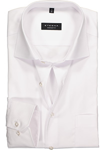 ETERNA Comfort Fit overhemd, super lange arm, wit niet doorschijnend twill