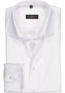 ETERNA Modern Fit overhemd, mouwlengte 7 niet doorschijnend wit twill