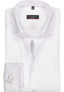 ETERNA Modern Fit overhemd, super lange arm, niet doorschijnend wit twill