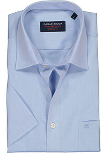 Casa Moda Comfort Fit, overhemd korte mouw, licht blauw