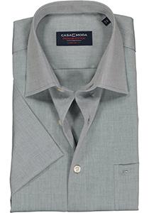 Casa Moda Comfort Fit, overhemd korte mouw, grijs