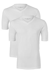 Casa Moda  T-shirts (2-Pack), V-neck, wit