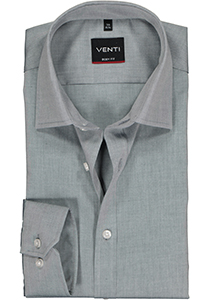 Venti Body Fit overhemd, grijs