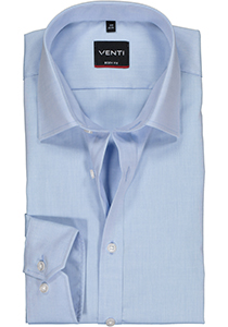 Venti Body Fit overhemd, mouwlengte 72 cm, licht blauw