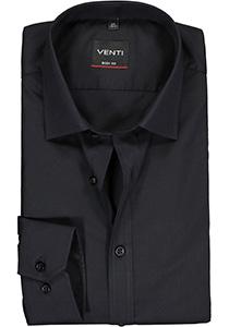 Venti Body Fit overhemd, mouwlengte 72 cm, zwart