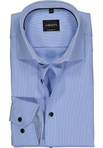 Venti Modern Fit overhemd, lichtblauw dessin structuur (contrast)