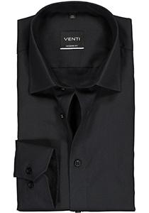 Venti Modern Fit overhemd, mouwlengte 7, zwart