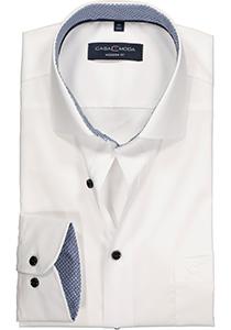 Casa Moda Modern Fit overhemd, wit (blauw contrast)
