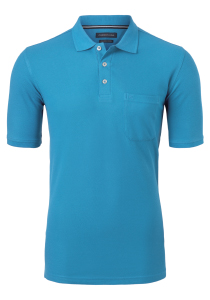 Casa Moda Comfort Fit poloshirt, donker turquoise