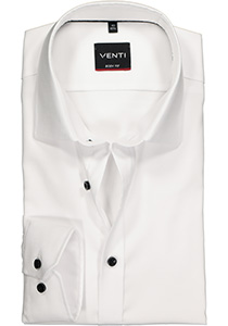 Venti Body Fit overhemd, wit structuur (contrast)