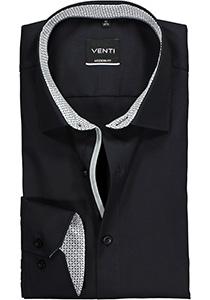 Venti Modern Fit overhemd, zwart (contrast)