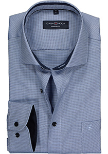 Casa Moda Modern Fit overhemd, blauw structuur (contrast)