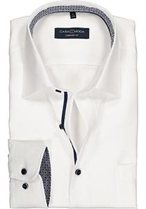 Casa Moda Comfort Fit overhemd, wit structuur (contrast)