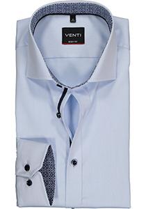Venti Body Fit overhemd, lichtblauw twill (contrast)