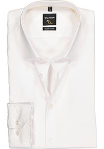OLYMP No. 6 Six, Super Slim Fit overhemd, wit twil
