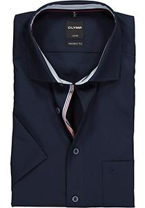 OLYMP Modern Fit, overhemd korte mouw, blauw (contrast)