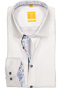 Redmond Modern Fit overhemd, wit structuur (contrast)