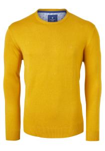 Redmond heren trui katoen O-hals, geel