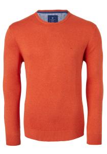 Redmond heren trui katoen O-hals, oranje