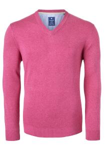 Redmond heren trui katoen V-hals, roze