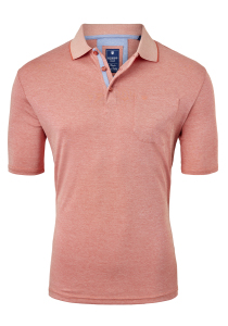 Redmond Regular Fit poloshirt, oranje melange