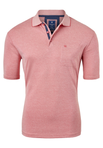 Redmond Regular Fit poloshirt, rood melange