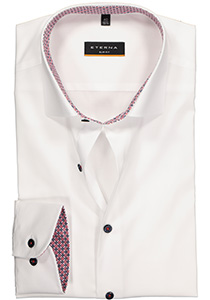 ETERNA Slim Fit overhemd, wit stretch (contrast)