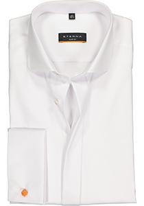 ETERNA Slim Fit overhemd dubbele manchet, wit twill