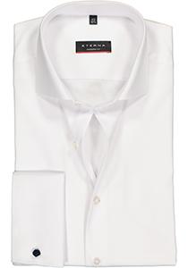 ETERNA Modern Fit overhemd dubbele manchet, wit twill