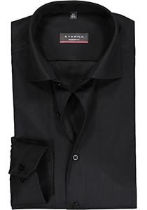 ETERNA Modern Fit overhemd, zwart twill