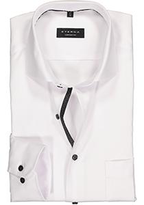 ETERNA Comfort Fit overhemd, wit twill (contrast)