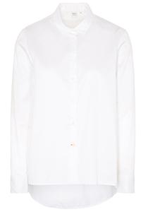 Eterna 1863 dames blouse wijder uitlopend model, wit