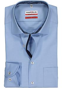 MARVELIS Modern Fit overhemd, lichtblauw twill (contrast)