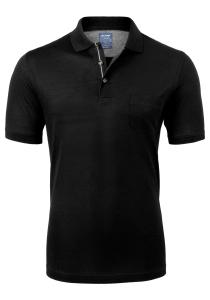 OLYMP Modern Fit poloshirt, zwart