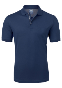 OLYMP Modern Fit poloshirt, blauw