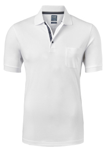 OLYMP Modern Fit poloshirt Active Dry, wit