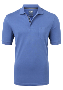 OLYMP Modern Fit poloshirt Active Dry, blauw