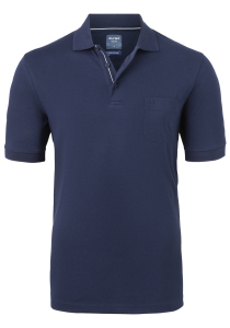 OLYMP Modern Fit poloshirt Active Dry, donkerblauw
