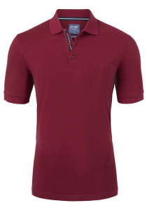 OLYMP Modern Fit poloshirt Active Dry, bordeaux rood