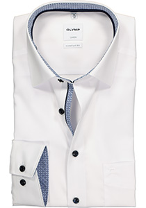 OLYMP Comfort Fit overhemd, wit (contrast)