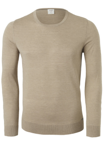 OLYMP Level 5 Slim Fit heren trui wol, camel