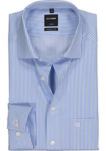 OLYMP Luxor Modern Fit overhemd, lichtblauw gestreept