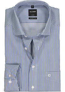 OLYMP Luxor Modern Fit overhemd, marine blauw gestreept