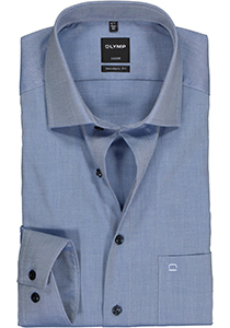 OLYMP Luxor Modern Fit overhemd, marine blauw twill