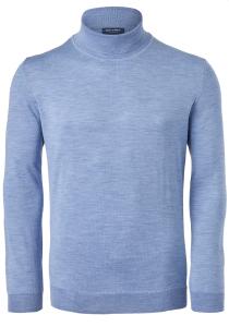 OLYMP heren coltrui wol, lichtblauw