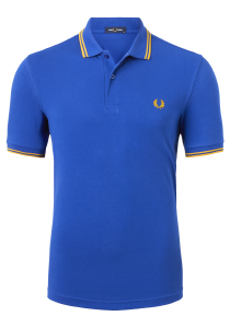Fred Perry M3600 shirt, polo Cobalt / Gold / Gold