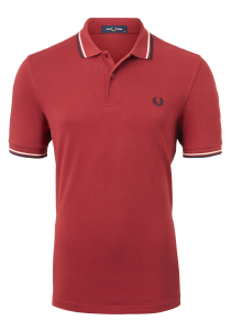 Fred Perry M3600 shirt, polo Rich Red / Natural / Navy