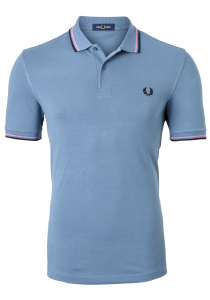 Fred Perry M3600 shirt, polo Blue Slate / Lilac /Black