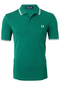 Fred Perry M3600 shirt, polo Raf Green / White / Silver Pink