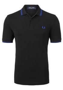 Fred Perry M3600 shirt, polo Black / Cobalt / Cobalt